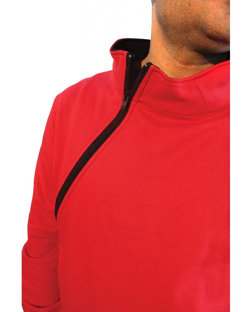 Men's sweater with collar