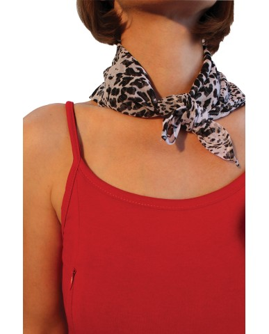 "Black and white neck scarf ""Areti et al."" AX2"