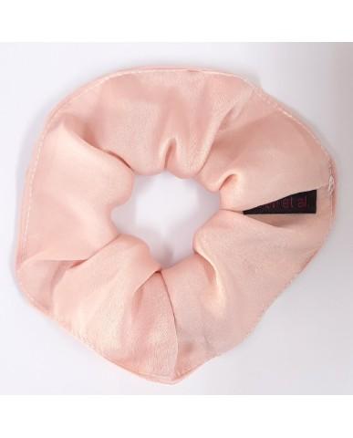 """Σατέν scrunchy-λαστιχάκι μαλλιών """"Pink"""" - SC4"""