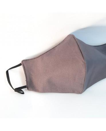 ΝΕΑ Τριγωνική υφασμάτινη μάσκα προσώπου ποπλίνα ΤΡΙΠΛΗΣ ΠΡΟΣΤΑΣΙΑΣ (10τμχ) - 01n3