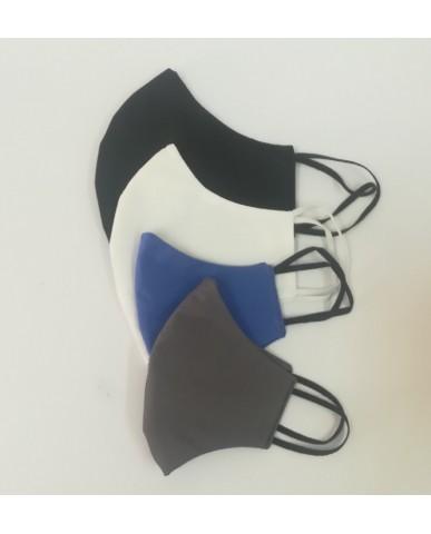 ΝΕΑ Τριγωνική υφασμάτινη μάσκα προσώπου ποπλίνα (10τμχ) - 01n