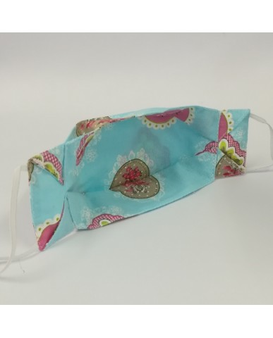 """Candy"" fabric face mask Flowers - 020fl"