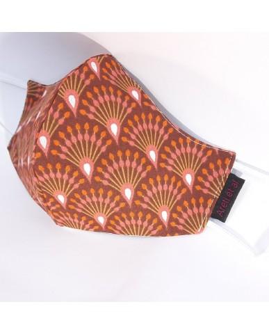 """Τριγωνική υφασμάτινη μάσκα προσώπου ΤΡΙΠΛΗΣ ΠΡΟΣΤΑΣΙΑΣ """"Random"""" - 040ran3"""