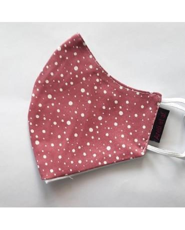"BESTSELLER Τριγωνική υφασμάτινη μάσκα προσώπου ""Polka dots"" - 040PD"