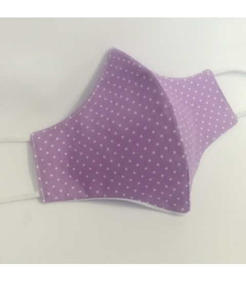"BESTSELLER  Triangular fabric face mask poplin ""Polka dots"" - 040PD"