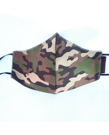 "BESTSELLER Τριγωνική υφασμάτινη μάσκα προσώπου ""Army"" - 040ar"