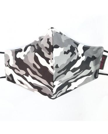 """Τριγωνική υφασμάτινη μάσκα προσώπου ΤΡΙΠΛΗΣ ΠΡΟΣΤΑΣΙΑΣ  """"Army"""" - 040ar3"""