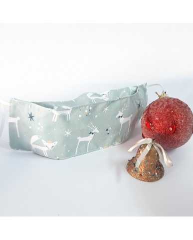 "Christmas Time fabric face mask ""Candy"" poplin ""Reindeer"" - CHR10"