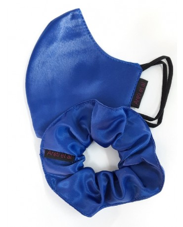 """Σατέν μάσκα προσώπου σετ """"ROYAL BLUE"""" - S2"""