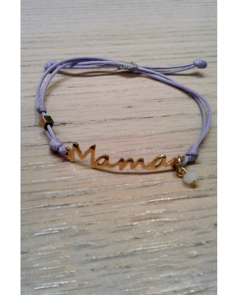 "Handmade macrame bracelet ""Mama"" JWL20"