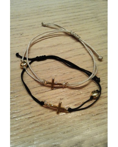 "Handmade macrame bracelet ""Cross"" JWL22"