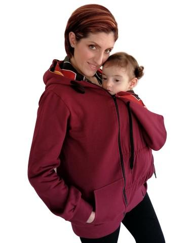 Babywearing hoodie 2in1 - 0001bw