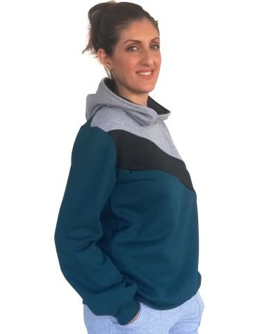 Nursing sweater with collar