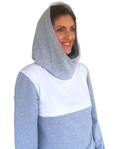 Μπλούζα θηλασμού με μεγάλη κουκούλα 1004