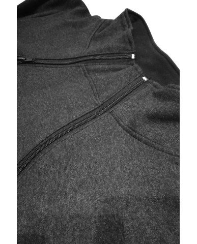 Φούτερ μπλούζα θηλασμού με γιακά 485