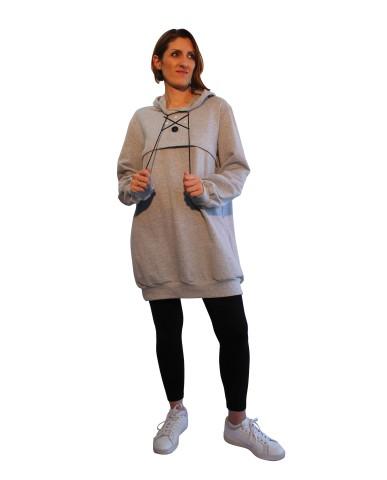 Φούτερ μπλουζοφόρεμα θηλασμού BASiC 9924