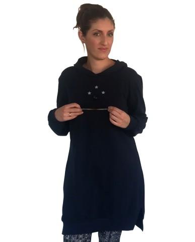 Φούτερ μπλουζοφόρεμα θηλασμού 9930