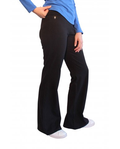 Bell bottomed leggings with waistband 112