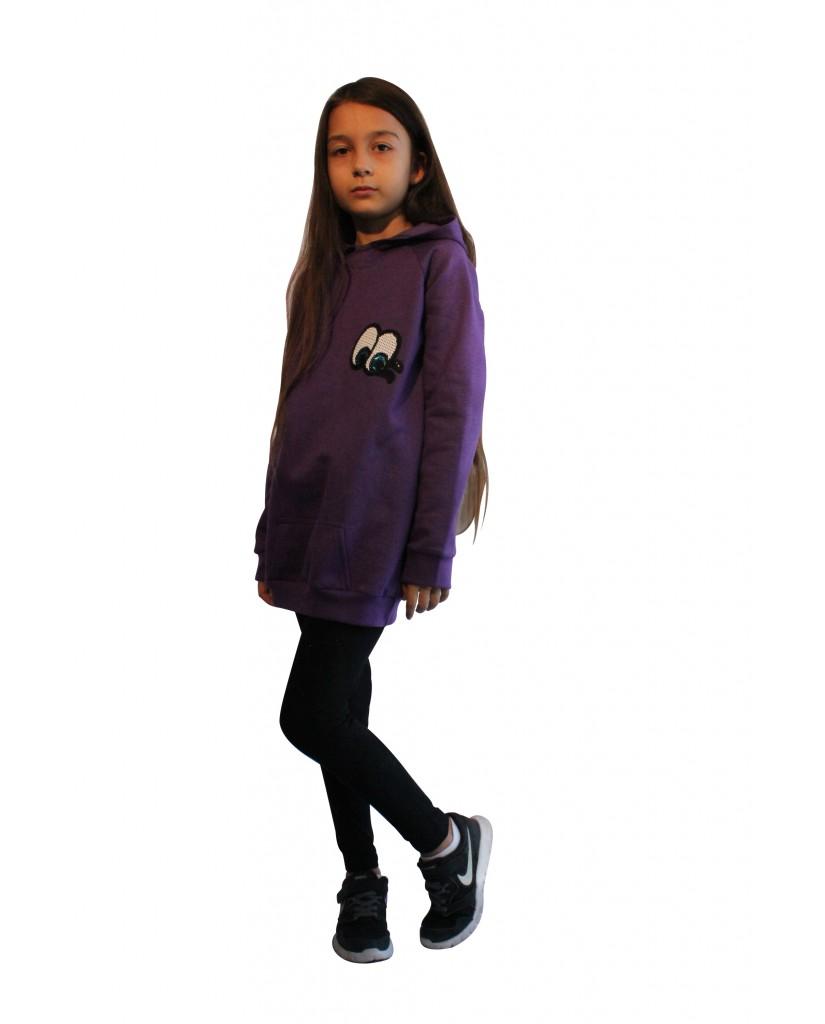 Φούτερ μπλουζοφόρεμα Α25