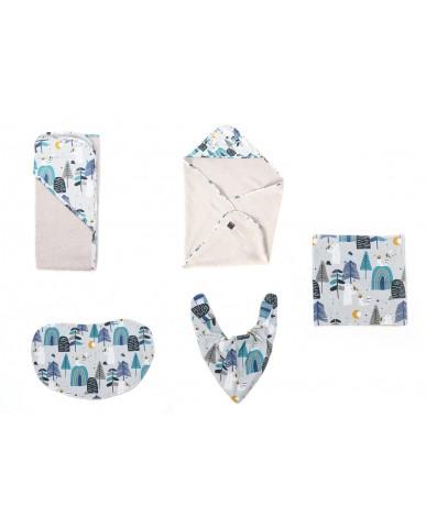 "Handmade Baby Set ""Bears"" -  5 pieces / DM6"