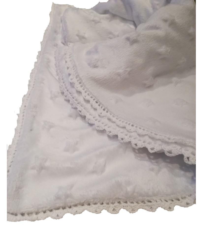 Λευκή βρεφική κουβερτούλα Μ51