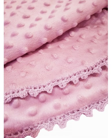 Pink baby blanket M52