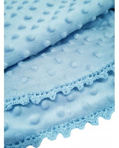 Light blue baby blanket M53