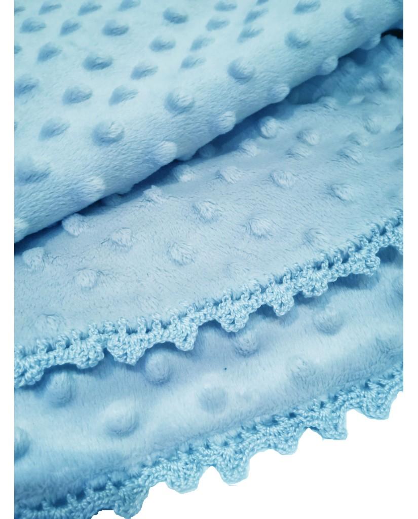 Light blue baby blanket M53