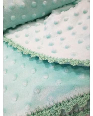 Mint baby blanket M55