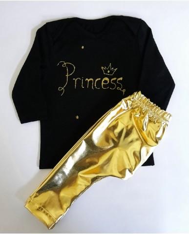"""Princess"" βρεφικό σετ κολάν με μπλούζα - pr300"
