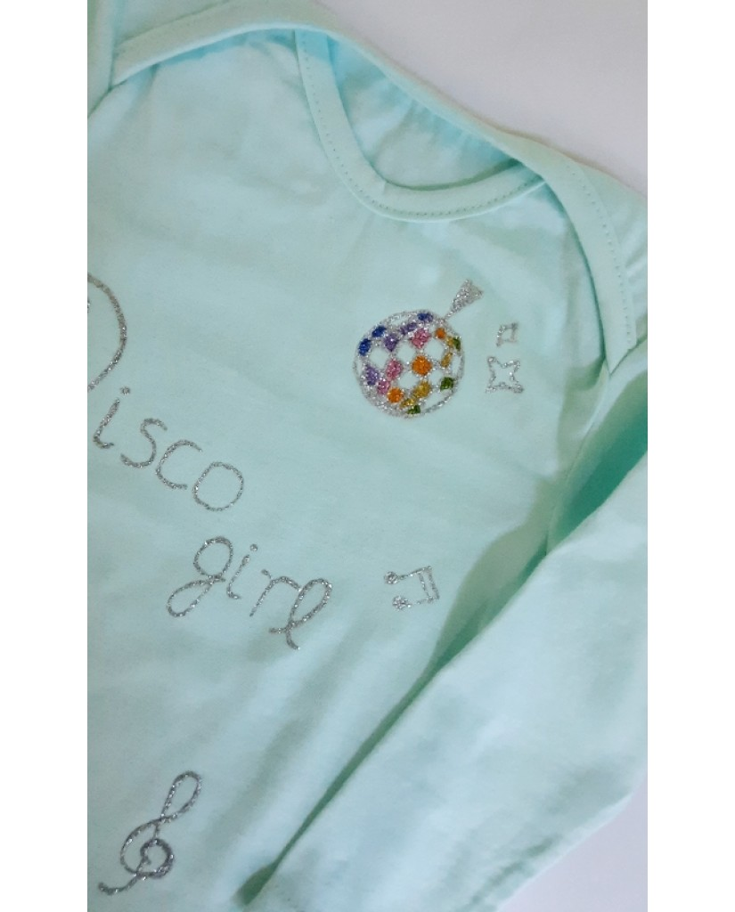 """""""Disco girl"""" βρεφική μπλούζα  A17"""